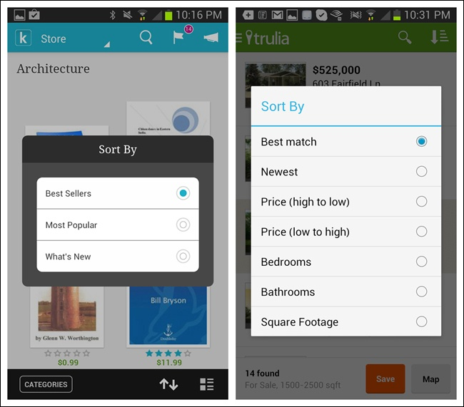 4  Search, Sort, and Filter - Mobile Design Pattern Gallery