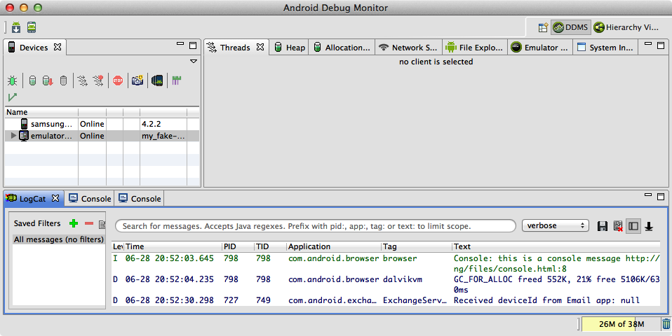 The Android Debug Monitor