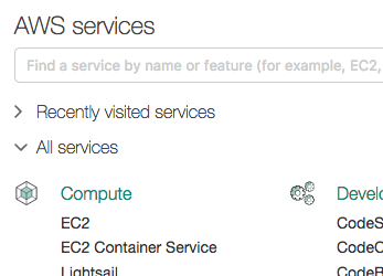 EC2 on the AWS console home page