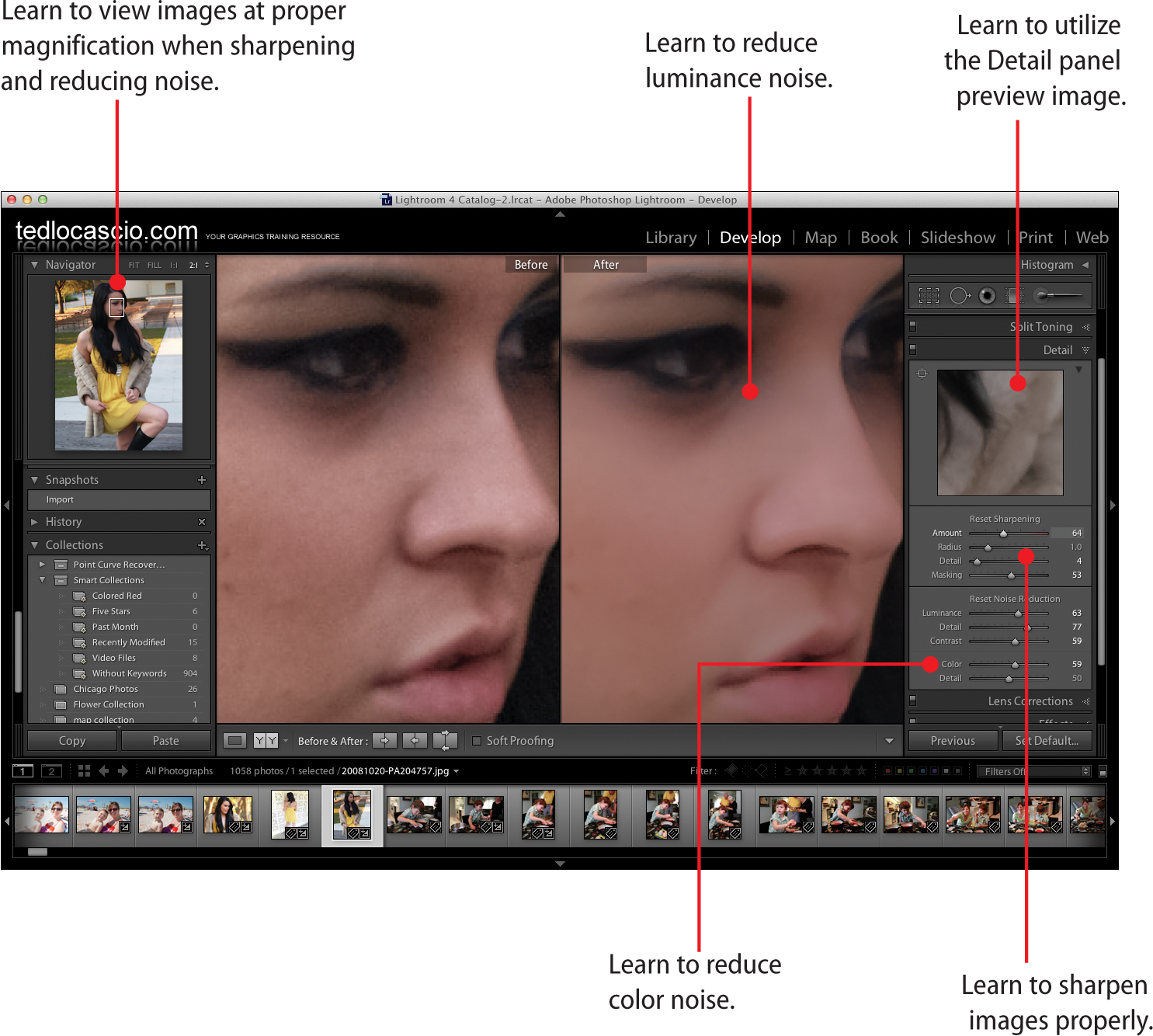 Reduce photoshop noise to in how