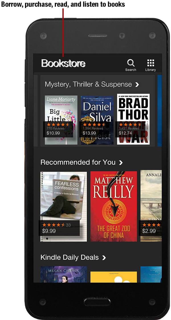 8  Read, Listen, and Manage Books - My Amazon Fire™ Phone [Book]