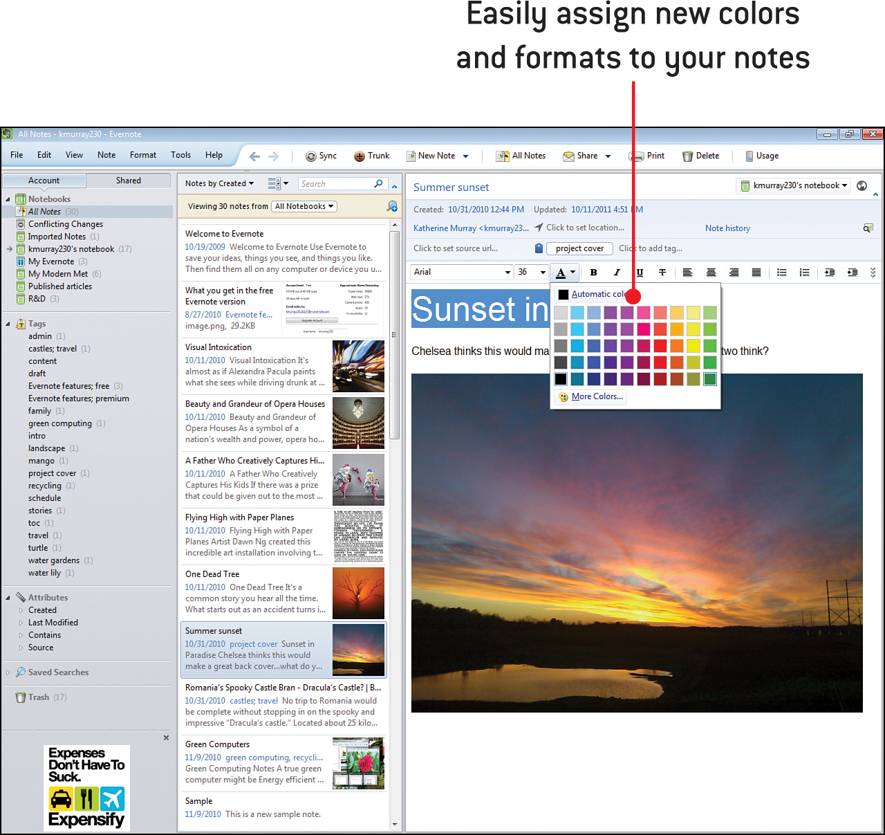 4 Editing And Formatting Notes My Evernote Book