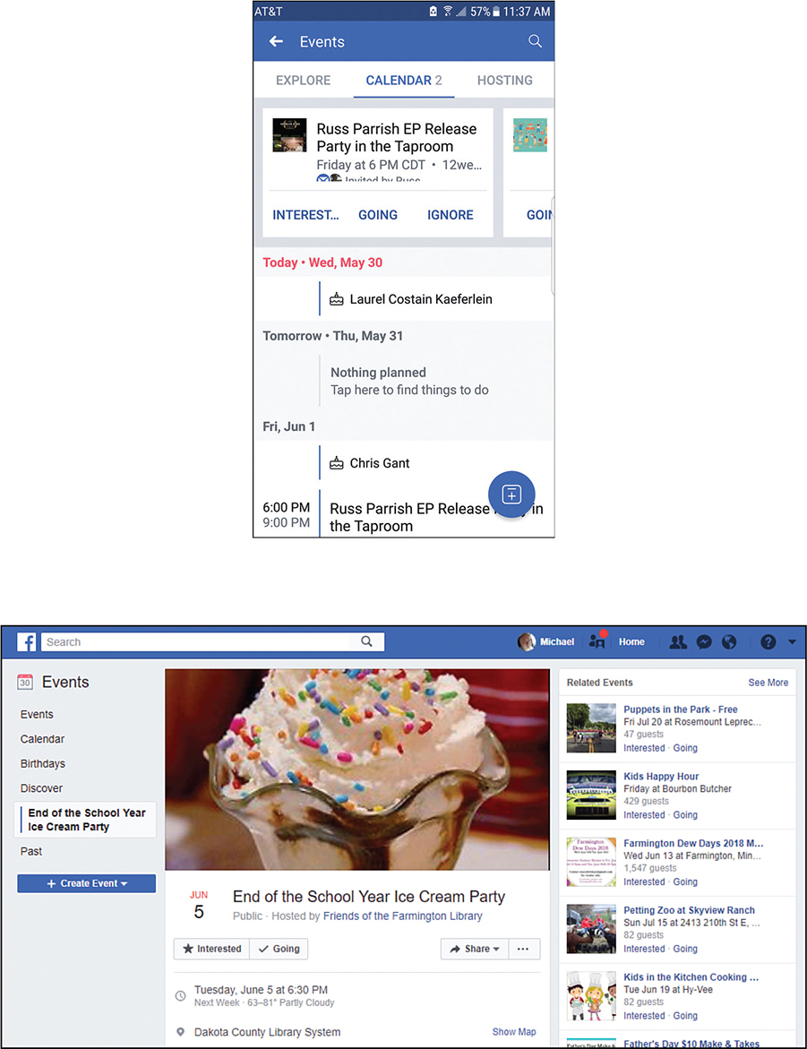 15 Attending Events and Celebrating Birthdays - My Facebook for