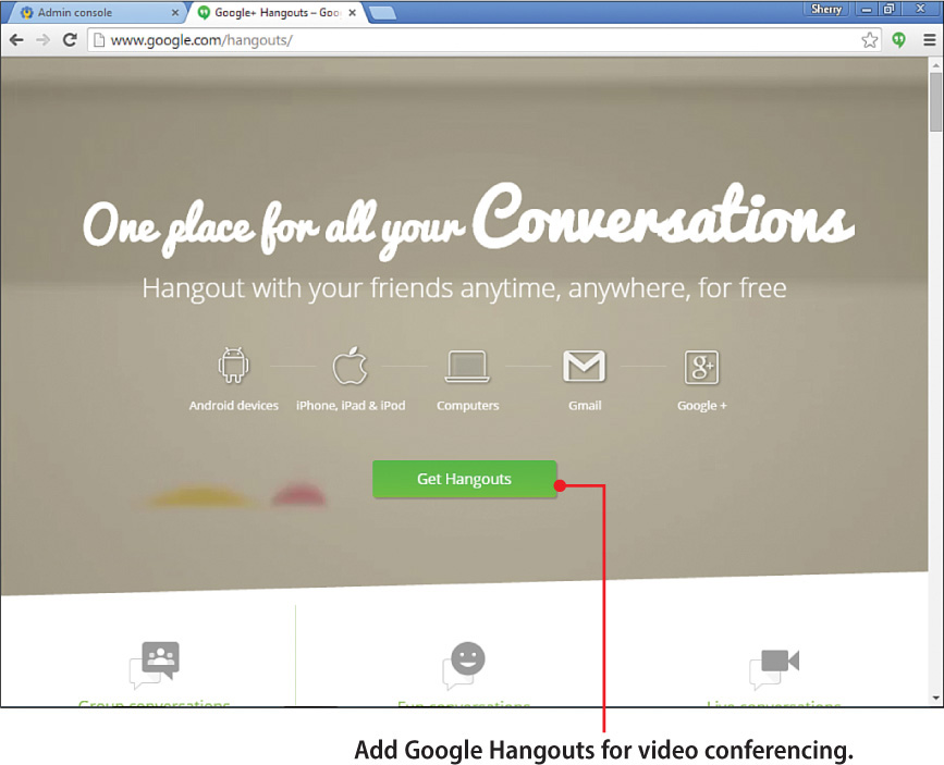 8  Communicating with Hangouts - My Google Apps, Second