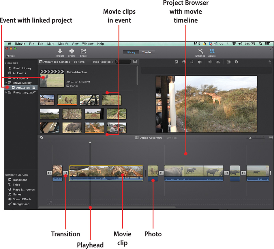 3  Creating a New Movie Project - My iMovie® [Book]