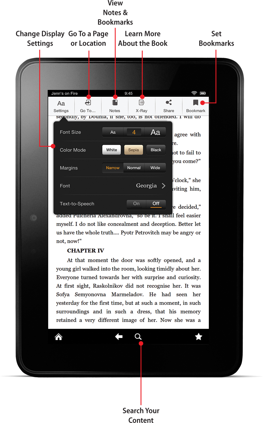 4  Reading on the Kindle Fire - My Kindle Fire HD [Book]