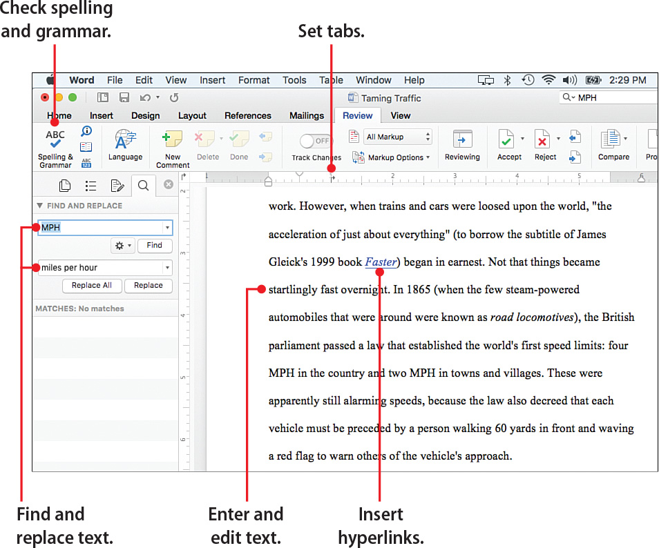 4 Working With Text In Word My Office 2016 For Mac Book