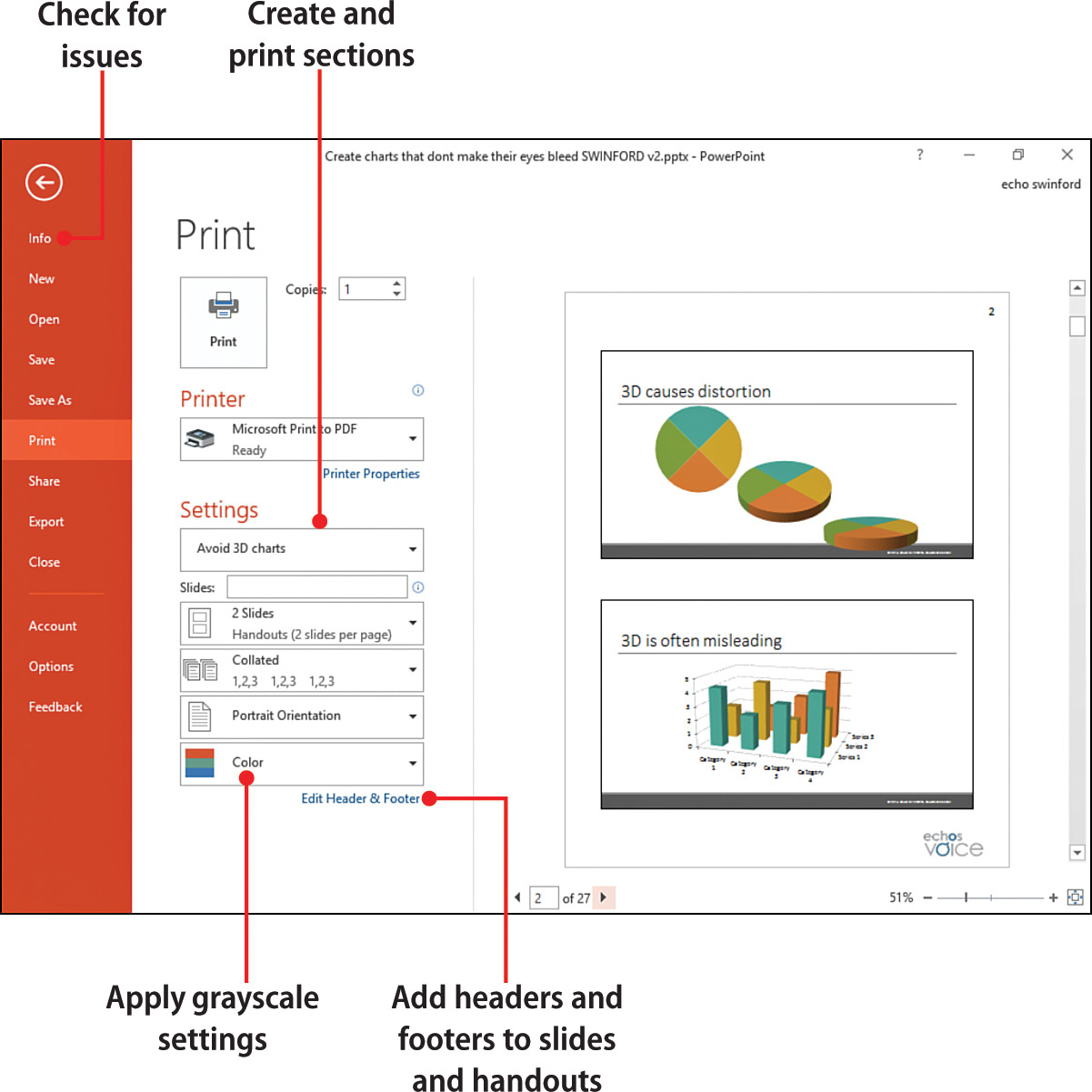 10 printing and finalizing your presentation my powerpoint 2016