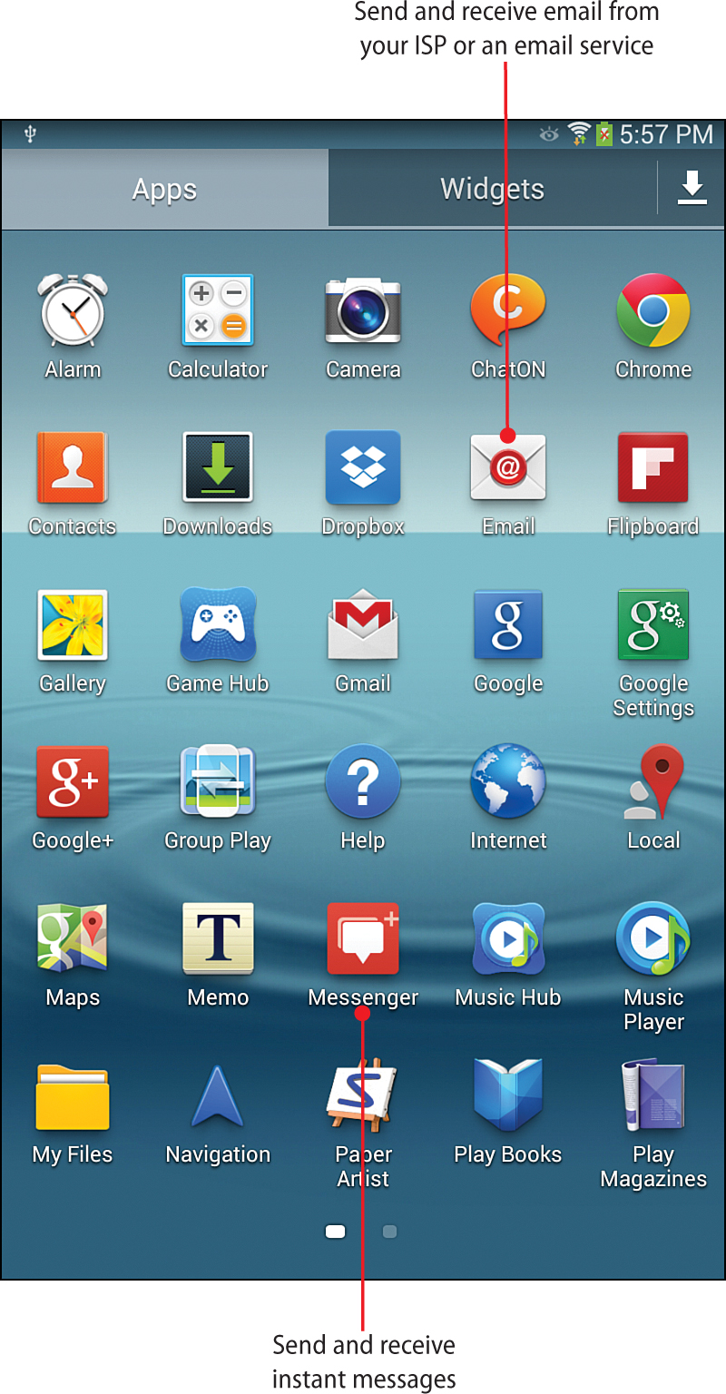 7  Sending Email and Instant Messages - My Samsung Galaxy