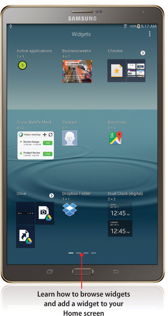 5  Adding Widgets to Your Home Screens - My Samsung Galaxy