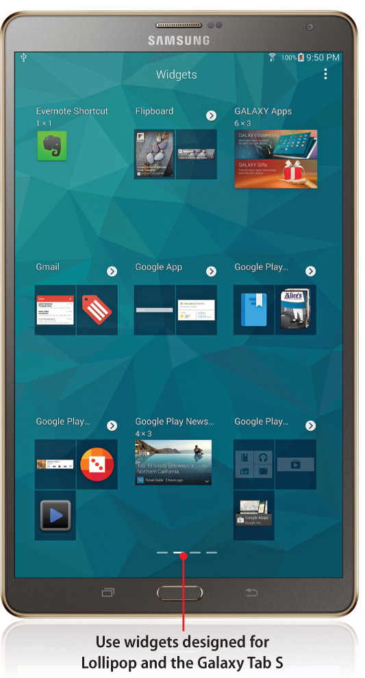 6  Finding Widgets and Using Quick Briefing - My Samsung Galaxy Tab