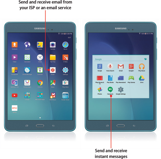 how to change my email settings on samsung galaxy tab