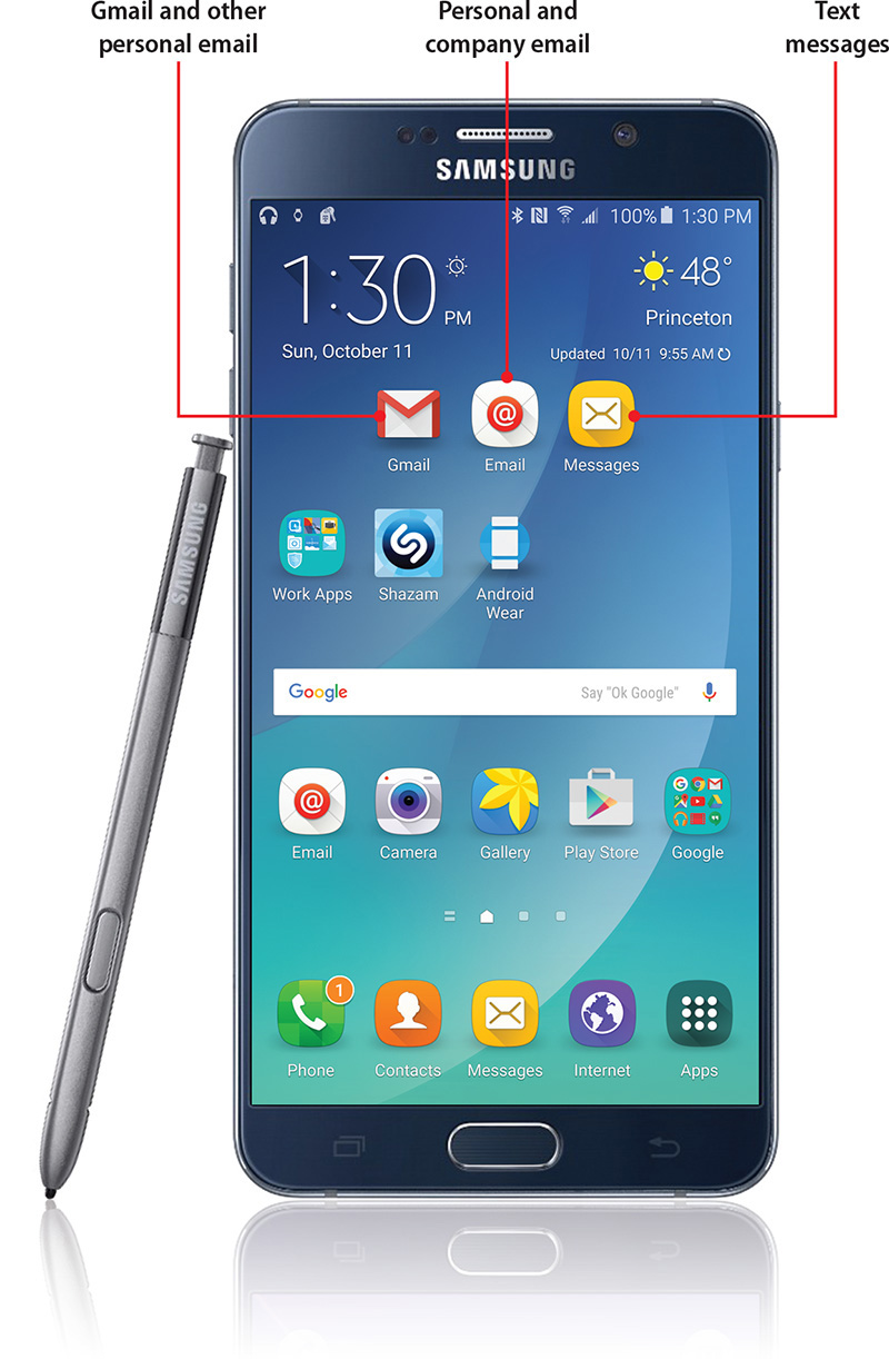 Set up your Samsung Galaxy Note 5 Android 5.1.1 for text messaging