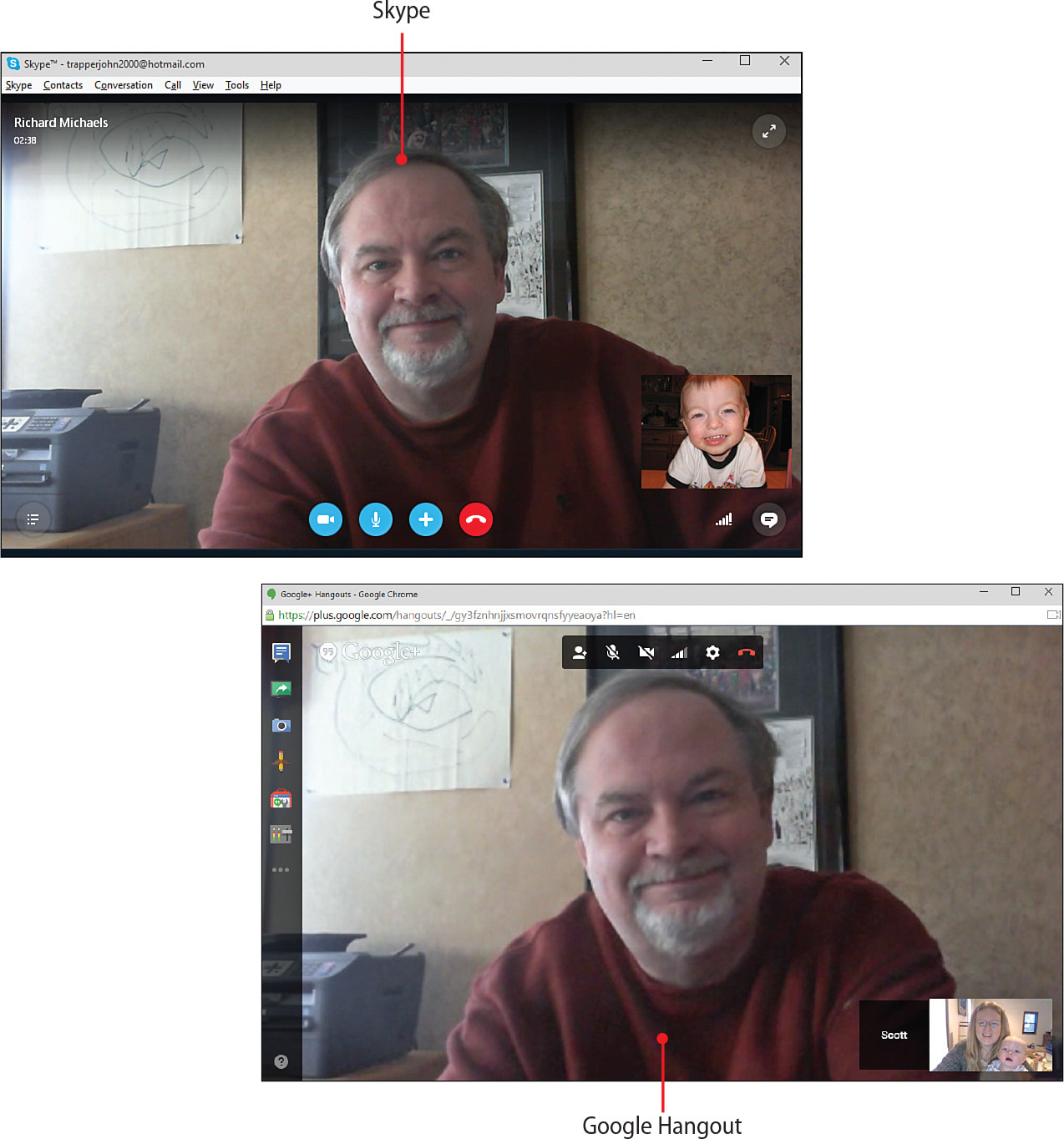 17  Video Calling with Skype and Google Hangouts - My Windows® 10