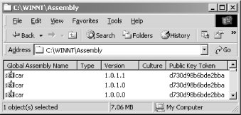 Multiple versions of the same shared assembly