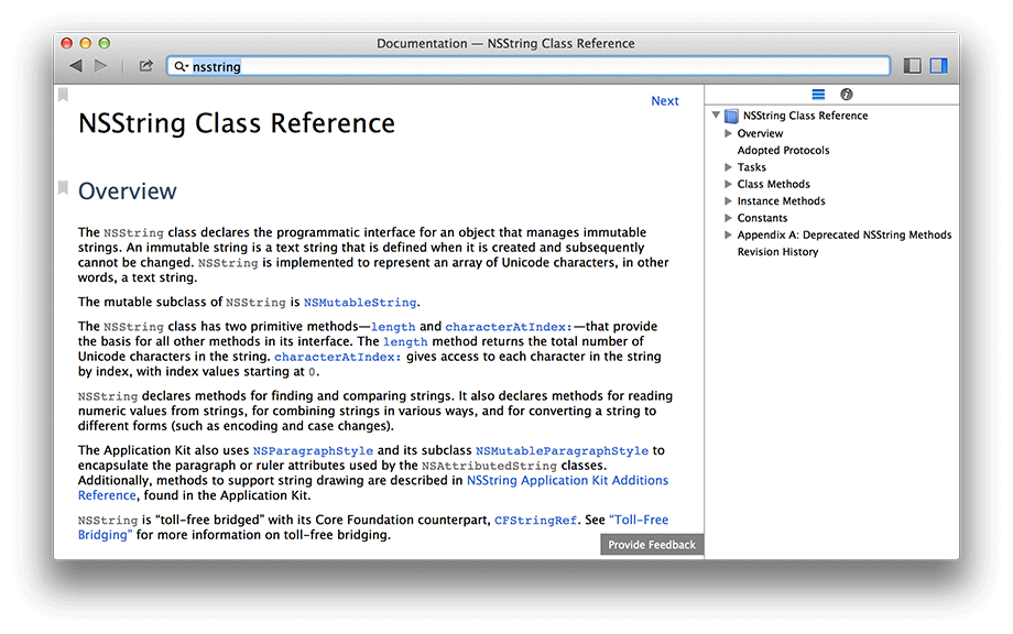 NSString class reference
