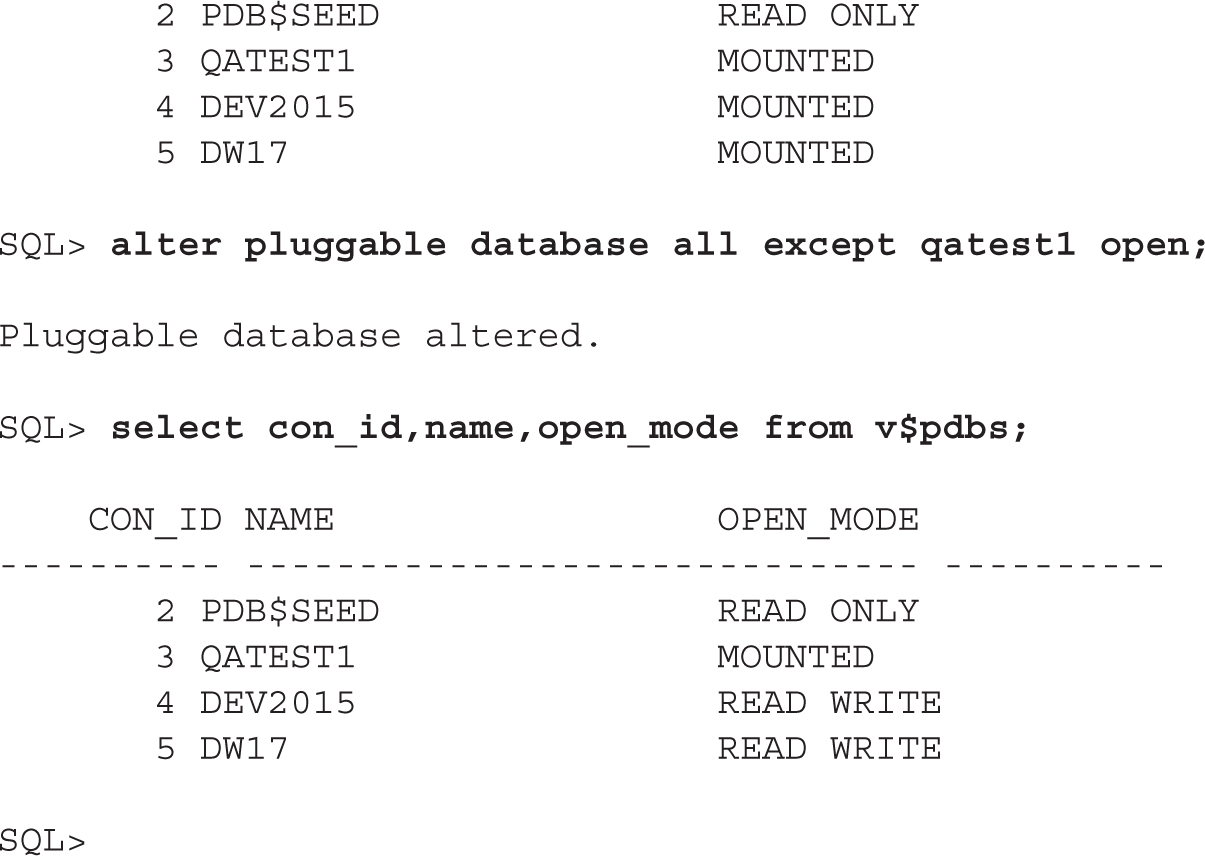 Start Up and Shut Down a CDB and Open and Close PDBs – DBA WORLD