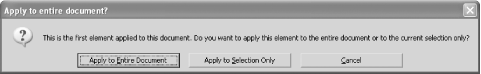"""Apply to entire document?"" dialog"