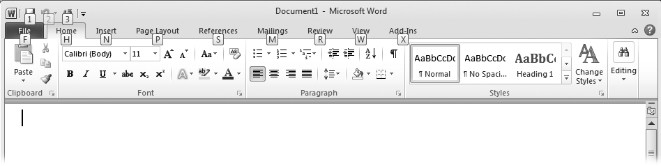 1  Basic Word Processing - Office 2010: The Missing Manual
