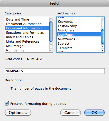 how to add new page on word for mac 2011