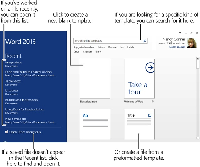1 Using Office 2013s Common Features Office 2013 The Missing