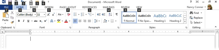 1  Using Office 2013's Common Features - Office 2013: The