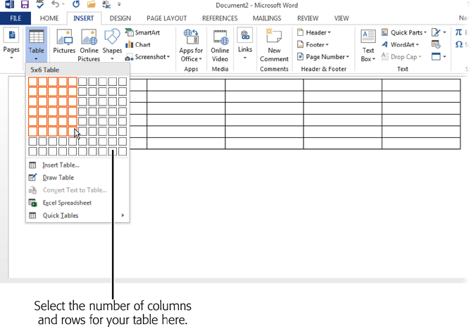 4 tables graphics and charts office 2013 the missing for How to make a table in html