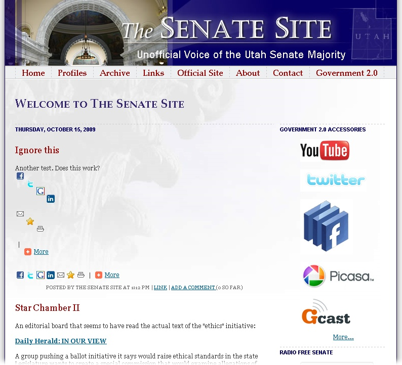 The Utah State Senate website