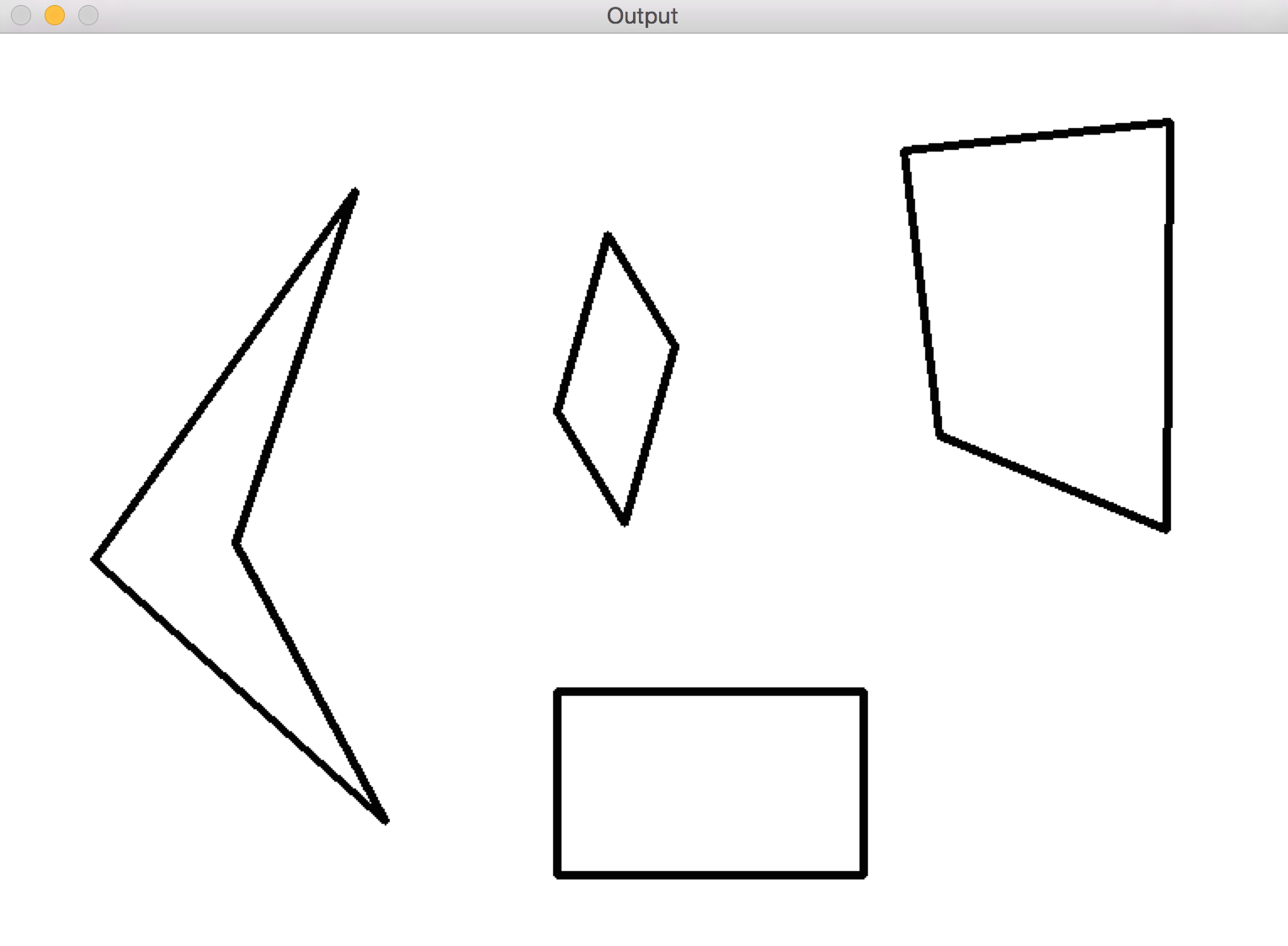Opencv Lines Shape