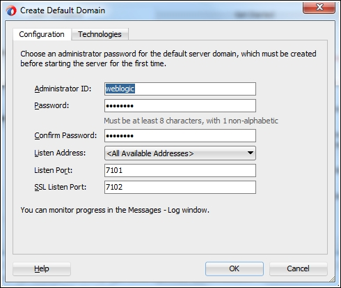 Configuring the default domain