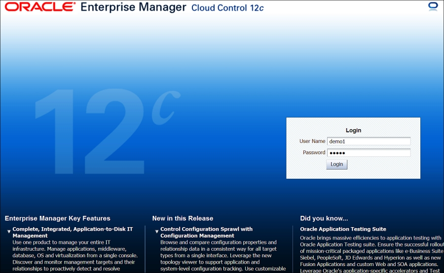 Overview of version 12c - Oracle Enterprise Manager Cloud