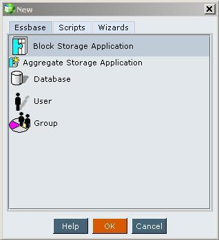 Creating your first Essbase application