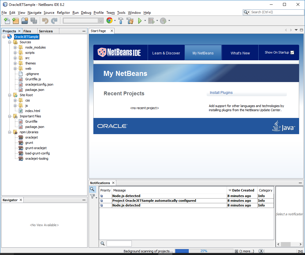 Managing and running the project using NetBeans IDE - Oracle