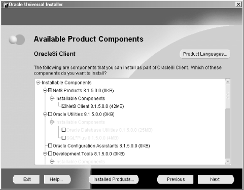Installing the Net8 Client Software - Oracle Net8