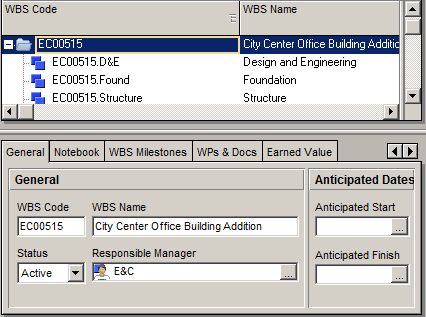 Structuring the WBS of the project