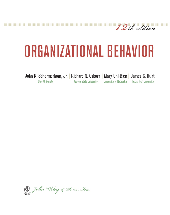 organizational behavior terms and concepts paper Term paper on organizational behavior to see the concepts come to life but to see how break the rules in simpler terms cutbacks and productivity.
