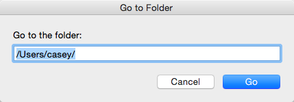 The Go to Folder Command