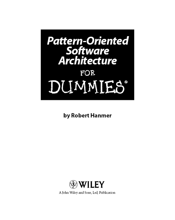 Title Page - Pattern-Oriented Software Architecture For
