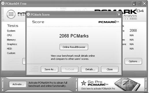 Benchmarks like PCMark04 can reveal system characteristics and performance results that mark a powerhouse or a substandard PC.