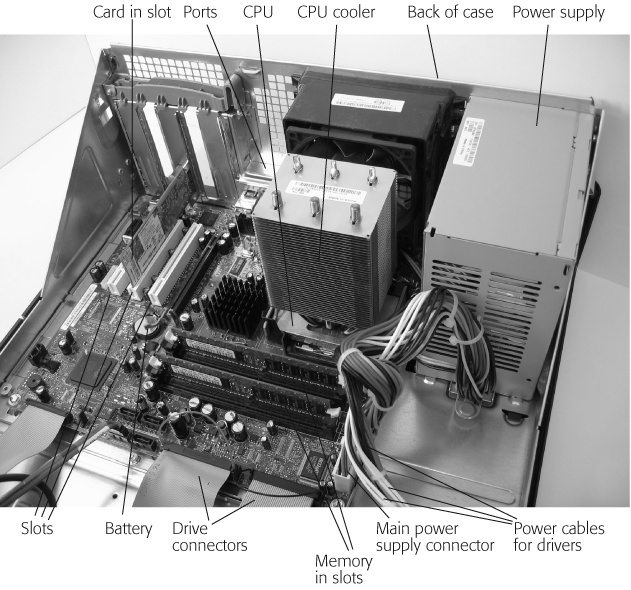 1 inside your pc pcs the missing manual book your motherboard contains your cpu battery memory memory slots cards slots ccuart Image collections