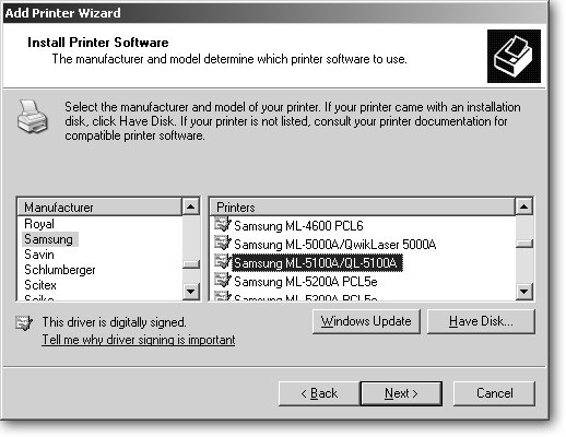 Click Your Printers Manufacturer From The Left Column And Model Name