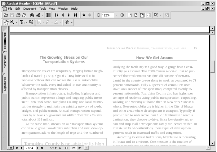 Viewing a PDF document through Acrobat Reader running as a separate application