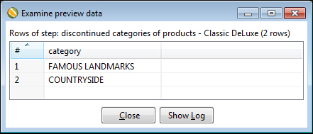 Time for action – deleting data about discontinued items