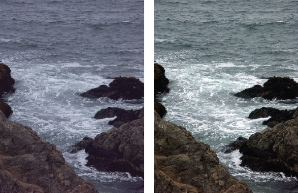A quick click of the Auto button for Levels can make a dramatic difference.Left: The original photo isn't bad, and you may not realize that the colors could be better.Right: Here you can see how much more effective the photo is once Auto Levels has balanced the colors.