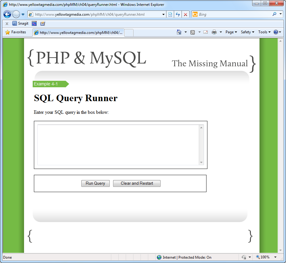 4 connecting php to mysql php mysql the missing manual book who ever said you wouldnt spend plenty of time writing html and css when biocorpaavc