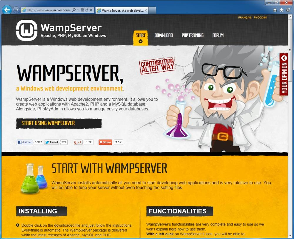 Wampserver.com brings together everything you need for getting PHP and MySQL going and behaving on your Windows PC.