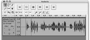 A recording in Audacity