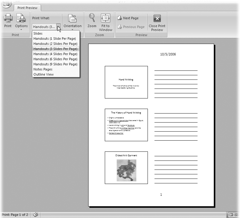 how to change printing header on powerpoint