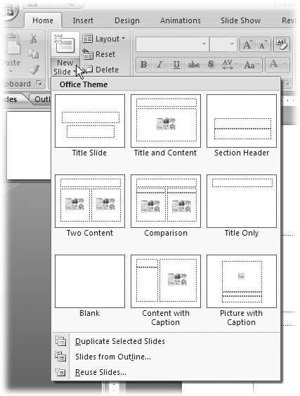 4 formatting and laying out your slides powerpoint 2007 the unfortunately the layout options dont automatically previewyou have to apply one toneelgroepblik Images