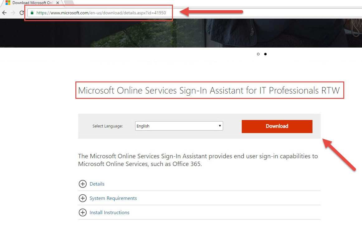 Installing Microsoft Online Service Sign-In Assistant - PowerShell
